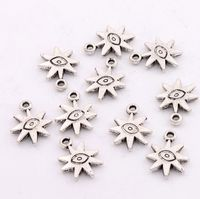 Evil Eye Sun Lucky Charms Pendants 18.7x14.3mm Jewelry DIY L106 17pcs Antique Silver