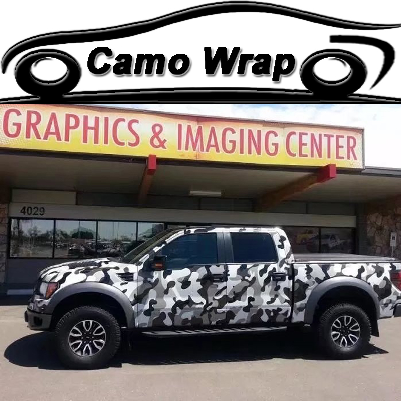 Camouflage Black Grey White Vinyl Film Car Wrap Motorcycle Car Vehicle Scooter DIY Adhesive Sticker Decal