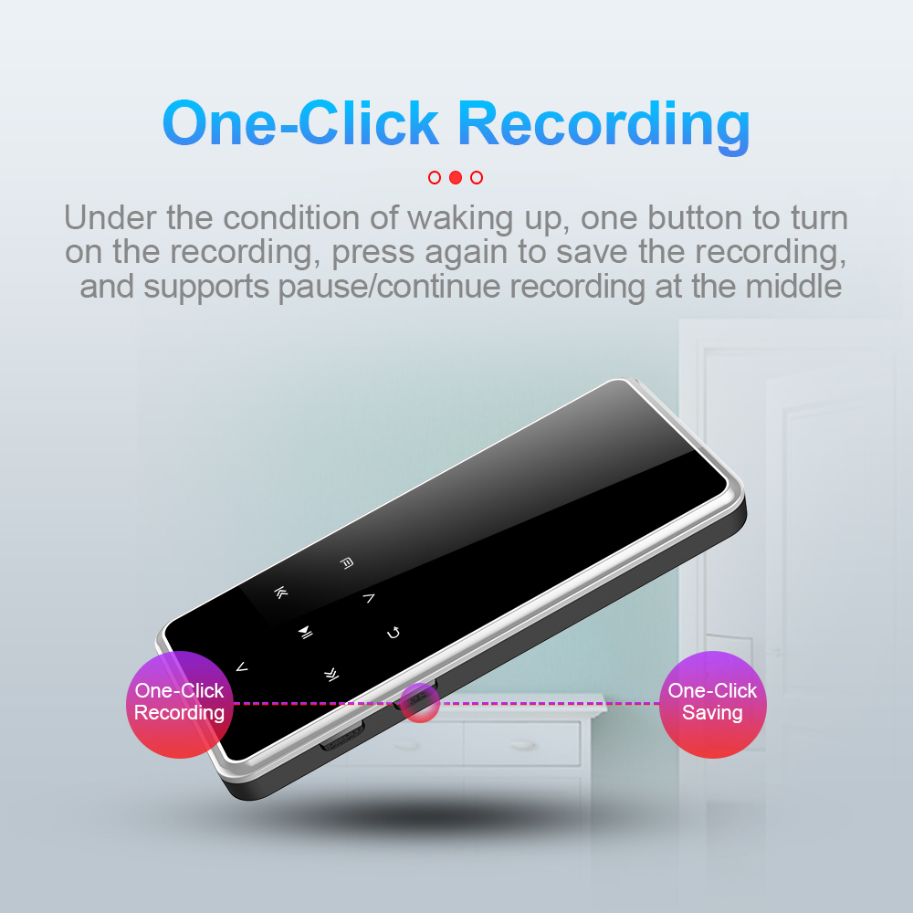 32GB Bluetooth MP3 Player MP4 Media FM Radio Recorder HIFI Sport Music Speakers voice recording mini player with mic gifts