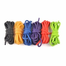 Outdoor 5 Color Rubber Tube 5mm*2.5m Replacement Band for Hunting Sling Shot Slings Stretch Elastic Tube Mulit-color E