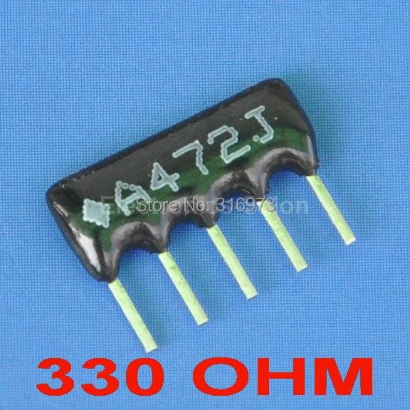 (5 штук в партии) 330 Ом пленка толщиной сети массива резистор, SIP-5 автобусах Тип.