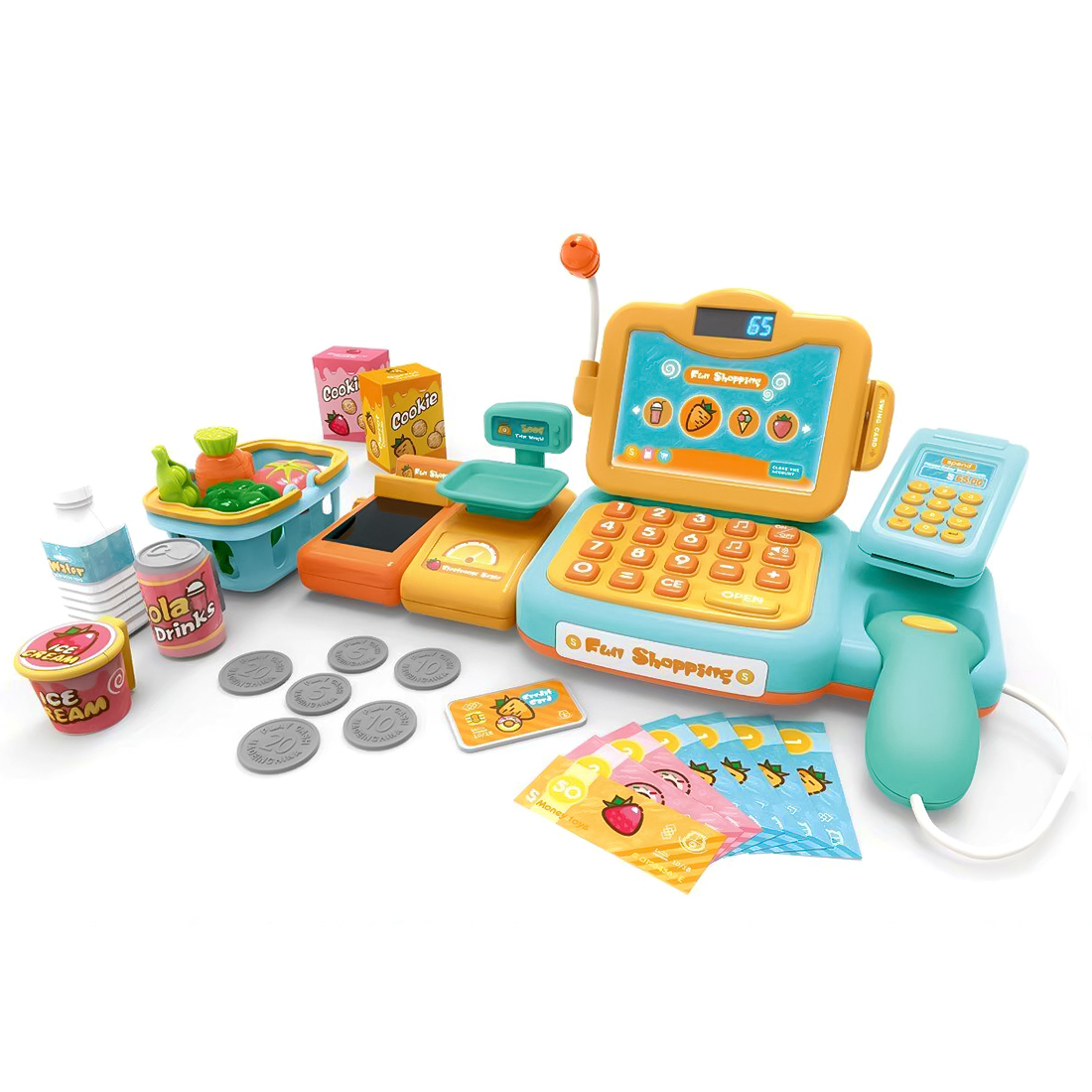 New Arrive 24Pcs Children Realistic Pretend and Play Calcula