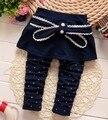 (1 unid/lote) 100% de algodón 2016 de Lunares arco pantalón para el bebé 0-3 años de edad, 73.80.90.100cm