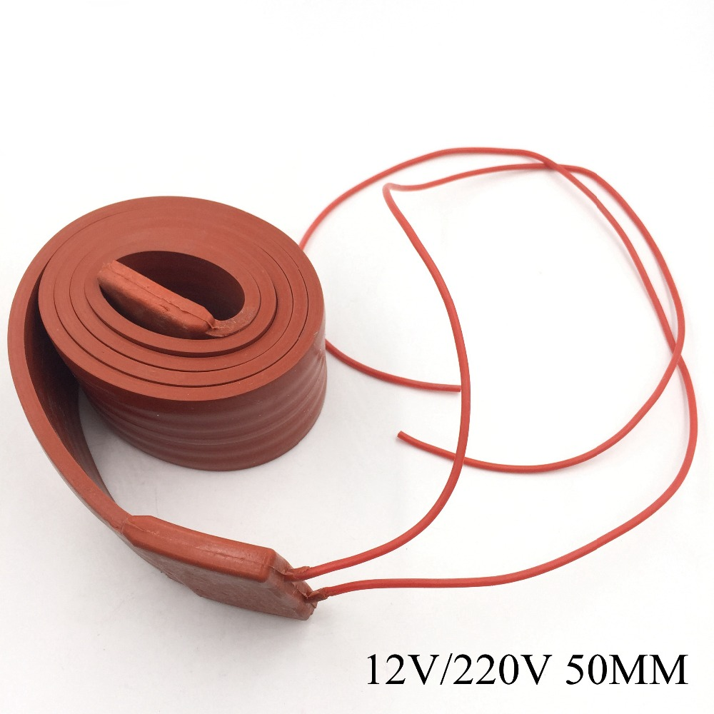 12v 220v 50mm flexible silicone rubber heating cable silica gel heater trace wire for freeze. Black Bedroom Furniture Sets. Home Design Ideas