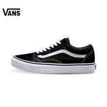 Оригинальные Vans Old Skool низкие классические унисекс Мужские и WOWEN'S обувь для скейтбординга спортивная парусиновая обувь кроссовки