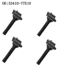 YAOPEI 4 PCS Ignition Coil 33410-77E10 33410-77E11 Pencil For SuzukiI Escudo Grand Vitara 3341077E10 3341077E11