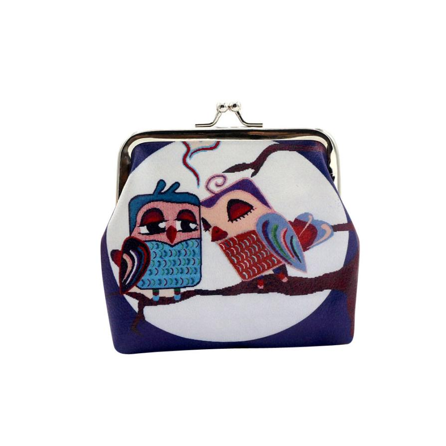 New Fashion Women Wallet Girl Owl Wallet Lovely Style Purse Bag Key Pouch Purse 2017 Hot Sale High Quality