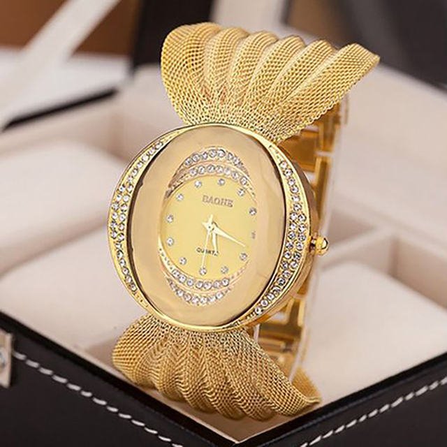 Top Band Luxury Women's Watch Fashion National Style Bangle Watch for Women Quar