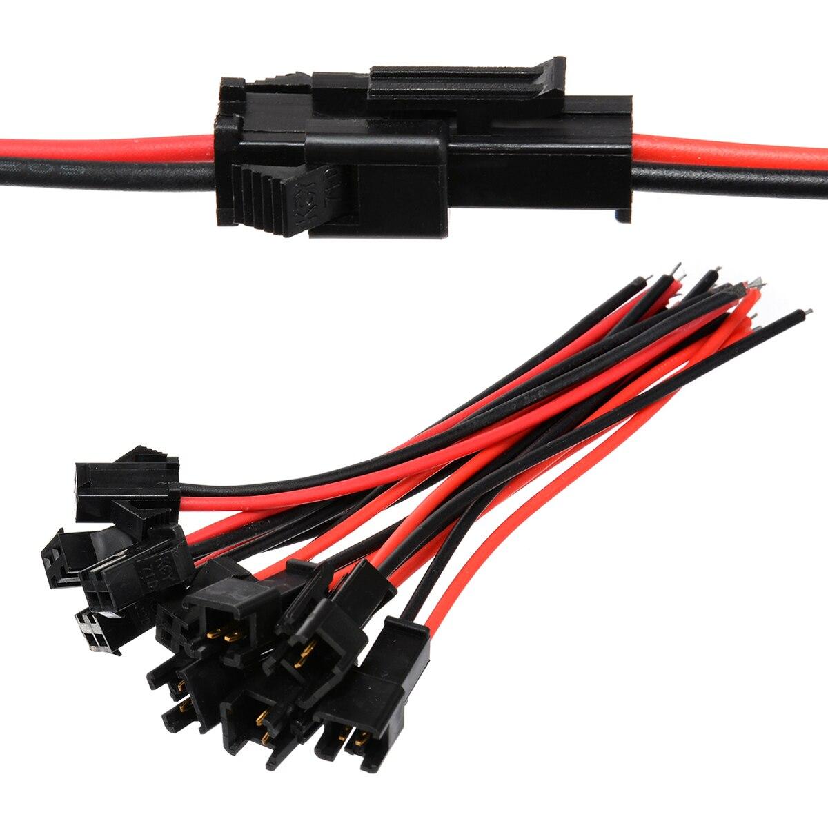 EClyxun 10 Pair/lot SM2.54 SM 2.54MM 2P 2 Pin Plug Male to