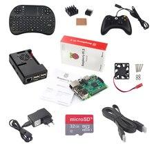 Raspberry Pi 3 Модель B + игровой контроллер + 32 г SD Card + 2.5A Питание + клавиатура + тепла раковина + вентилятор + HDMI кабель RPI игровой комплект