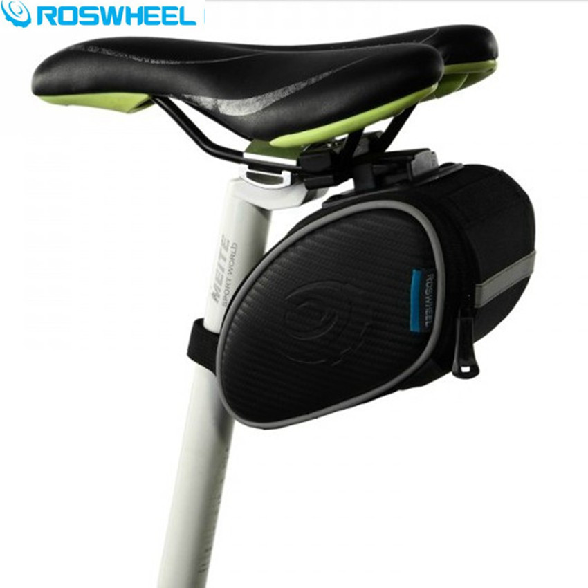 ROSWHEEL Cycling Bike font b Bag b font Black font b Bicycle b font PU Leather