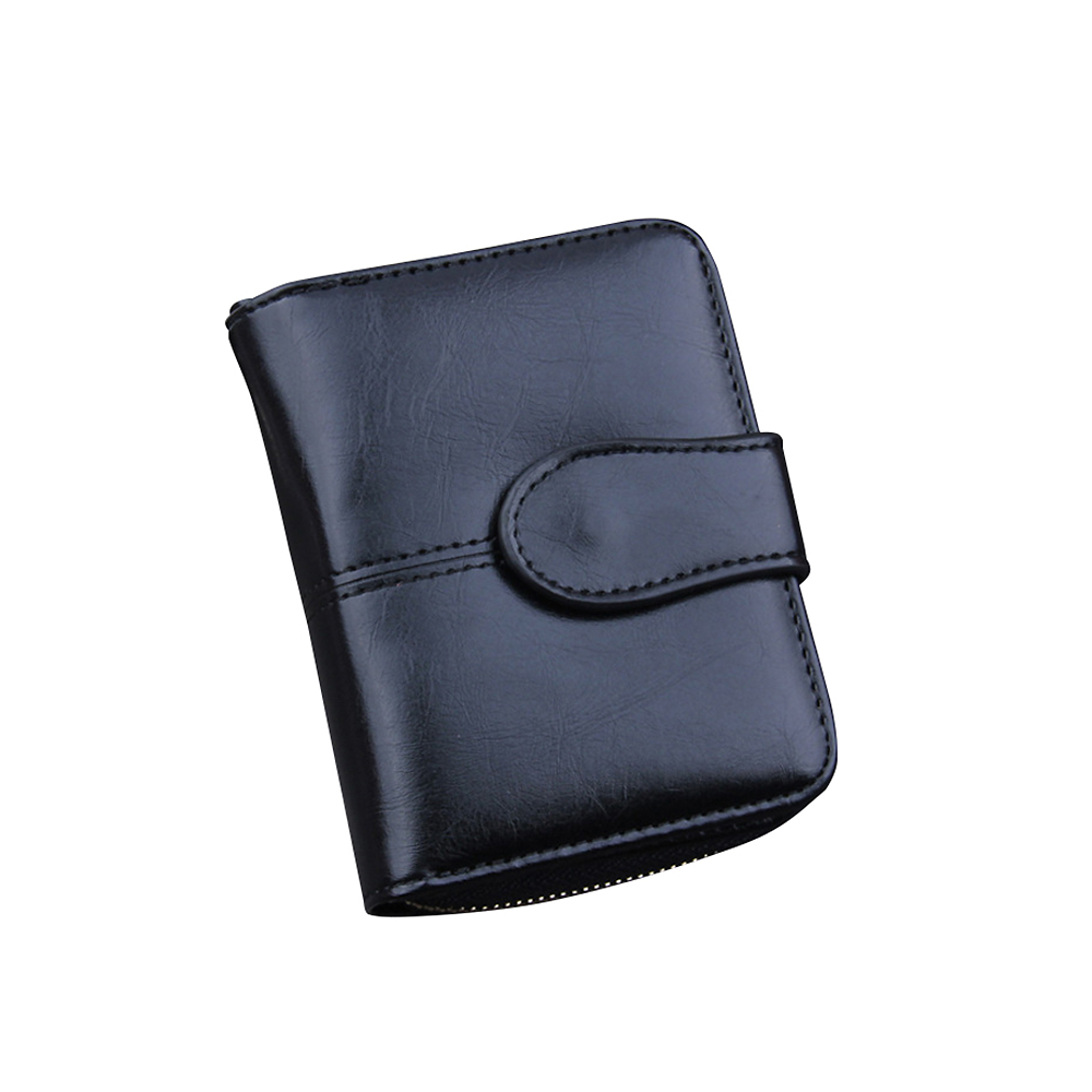 Badiya Hasp And Zipper Design Solid Women Wallet PU Leather Short Wallet For Women New Design Card Holder Purse
