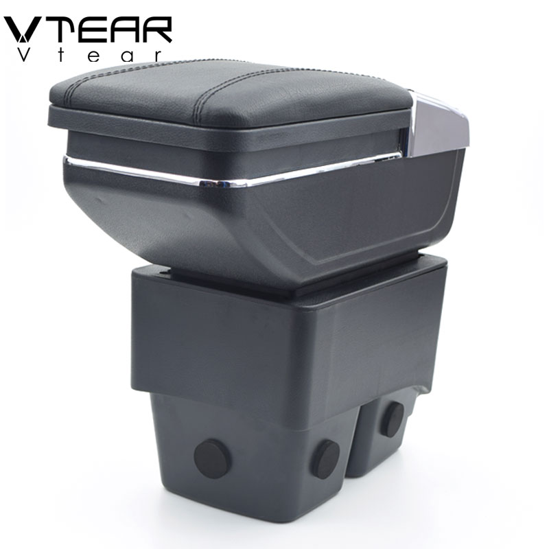 Vtear For Ford Fiesta armrest car center Storage box cup holder ashtray interior car styling products