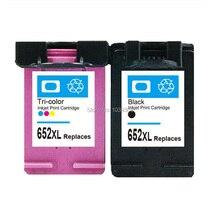 2x HP 652 Cartucho de Tinta Compatible para HP652 xl Deskjet 1115 1118 2135 2136 2138 3635 3636 3835 4535 4536 4538 4675 4676 4678