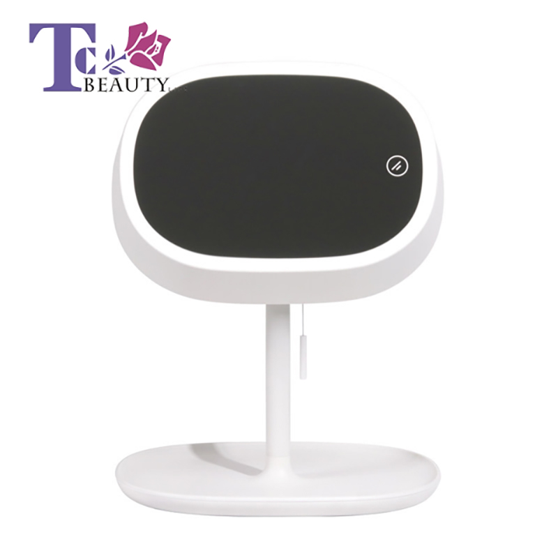 Led Light Standing Mirror Makeup Portable Table Cosmetic Women Desktop Mirrors Vanity Travel Lamp Cosmetic Tools Compact все цены