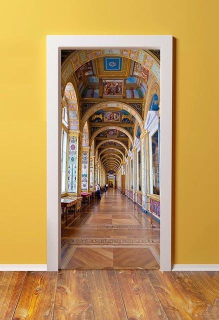 DIY 3D Wall Sticker Mural Home Decor Versailles Castle Hallway ...