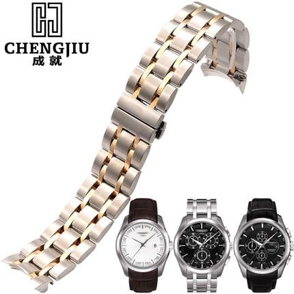 Men's Watchband For Tissot 1853 For Couturier T035/ 407/ 439 Clock Watches Band Steel Bracelet Belt Masculino Strap 22 23 24 mm tissot t101 407 11 051 00