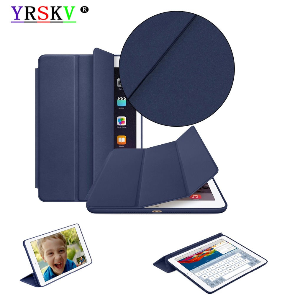 Original 1:1 Smart Cover Case for iPad 9.7 inch 2018 / 2017 YRSKV PU Leather Magnetic Smart Cover Tablet Case For Apple iPad case for ipad air 2 2014 yrskv senior silk smart cover ultra slim designer tablet pu leather cover tablet case for apple ipad