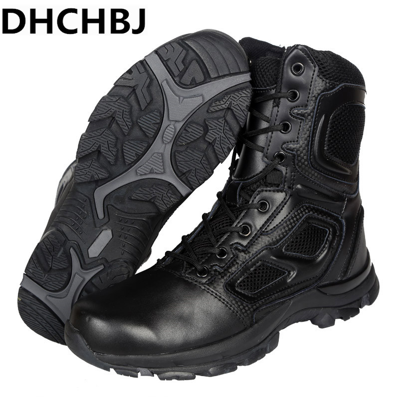 02417f226a2 Hiking Outdoor Camping Boots Men Leather Climbing Trekking Hunting ...