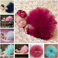 Nueva caliente de la venta del tutú falda a juego del bebé de las muchachas accesorios de fotografía moda Newborn Costume Outfit Princess