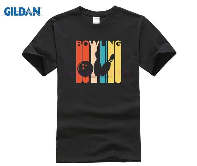 Старый винтажный дизайн боулинга искусство для Bowlers футболки мужские ретро Ringer мяч футболка для мужчин 2018 Новая повседневная модная брендовая одежда