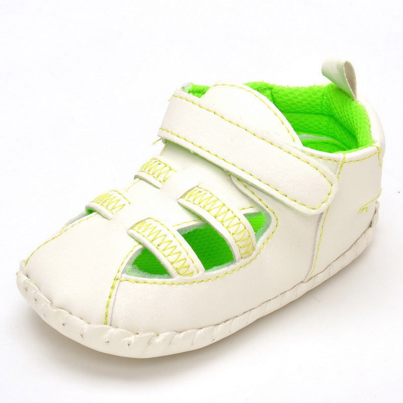 2017 Summer Fashion PU Hollow Breathable Newborn Baby Boy ...