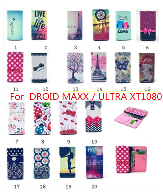 new styles 908e0 584e8 US $4.24 |For MOTOROLA DROID MAXX / ULTRA XT1080 New Luxury Flip pouch  Leather cute wallet Mobile Phone case 20 colors phone Bags on  Aliexpress.com | ...