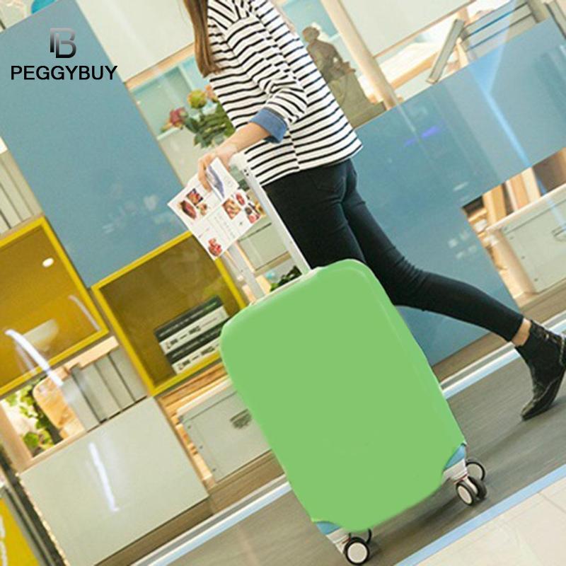 Простые эластичные Однотонная одежда Чемодан чехол тележки дорожного чемодана защитные сумки пыль Чехлы дорожные аксессуары