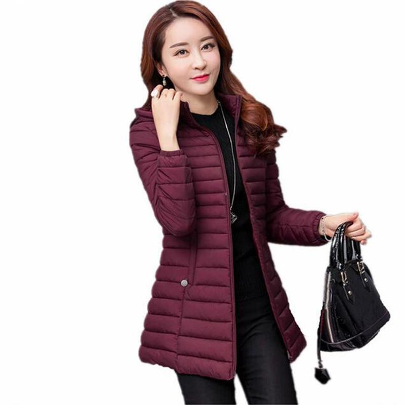 2018 New Autumn Jacket   Parka   Winter Jacket Women Warm Outwear Thin Plus Size Cotton-Padded Coat Jaqueta Feminina Inverno