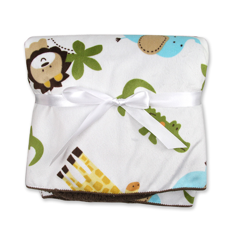 plush baby blanket newborn baby wrap super soft receiving blanket nap animal High quality 76 102