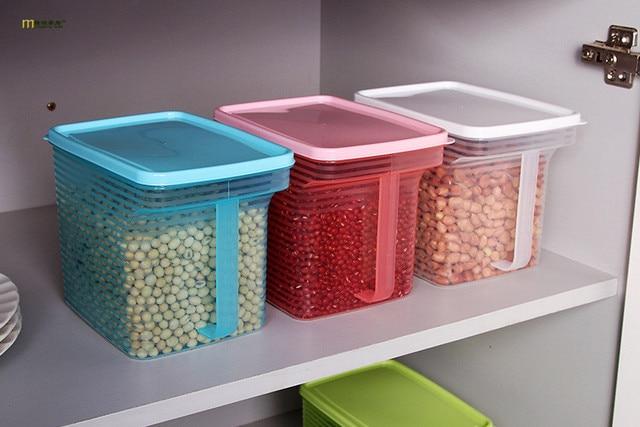 1PC kitchen food storage box storage tank airtight plastic