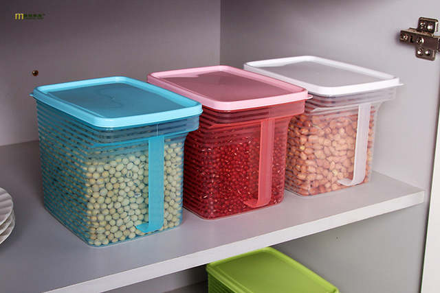 5b17edee1a0b 1PC kitchen food storage box storage tank airtight plastic containers sealed  cans for coarse cereals grains