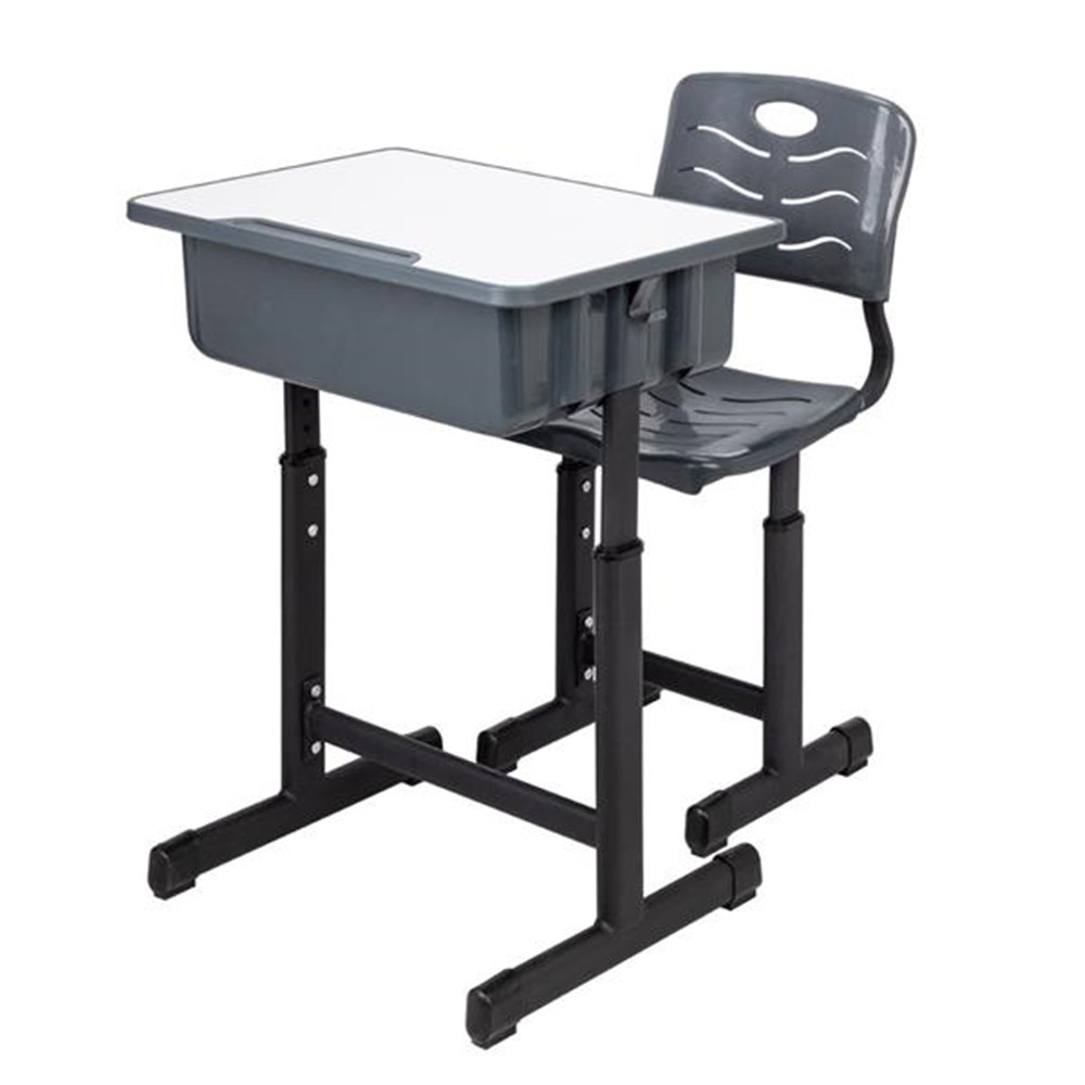 Height Adjustable Students Children Desk And Chairs Set Black Kids Desk With Large Storage Organizer Bedroom Furniture