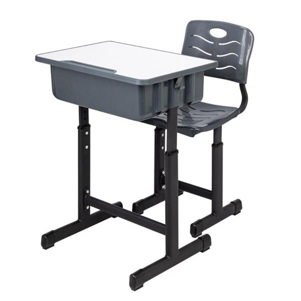 US $83.69 7% OFF|Height Adjustable Students Children Desk and Chairs Set  Black Kids Desk with Large Storage Organizer Bedroom Furniture-in Children  ...