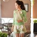 Original New 2016 Brand Plus Size Slim Fashion Green High Waist Shorts Women Autumn Wholesale