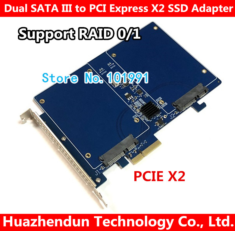 Universel Marvell 88SE9230 Haute Vitesse Double SATA III PCI Express X2 Adaptateur SSD carte carte RAID carte d'extension RAID 0/1