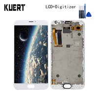 KUERT 5.5High Quality For Meizu MX5 MX 5 Touch Screen Digitizer 1920x1080 LCD Display Assembly With Frame Free shipping
