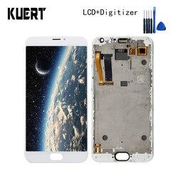 """KUERT 5.5 """"wysokiej jakości dla Meizu MX5 MX 5 ekran dotykowy Digitizer 1920x1080 montaż wyświetlacza lcd z ramą darmowa wysyłka w Ekrany LCD do tel. komórkowych od Telefony komórkowe i telekomunikacja na"""