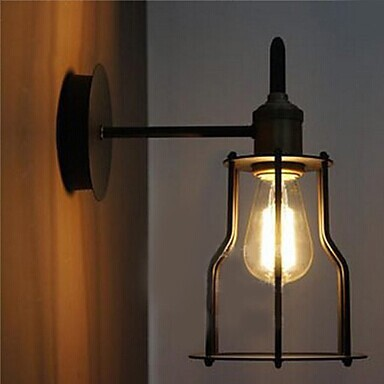 ФОТО American Artistic Metal Loft Industrial Vintage Edison Wall Light For Home Wall Sconce,For bedroom home room,E27 Bulb Included