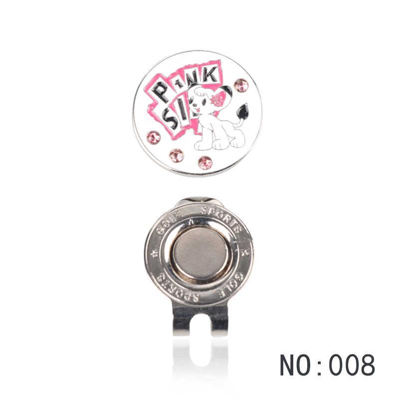 1 Pcs Golfbal Mark met Golf Hoed Clip Magnetische Outdoor Alloy golf marker levert accessoires