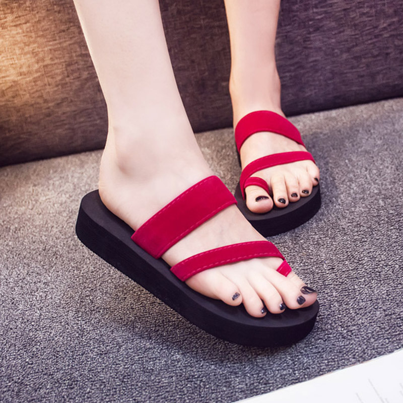 707edc8be6101 BOMIMI Plus Size 36 42 Women slippers Wedges Platform Shoes Foam Slippers  Female Summer Flip Flops Beach Sandals Zapatos Mujer-in Slippers from Shoes  on ...