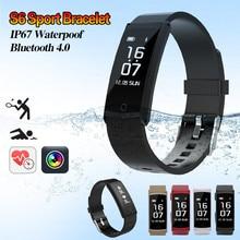 S6 Smart Браслет фитнес Браслет сна монитор сердечного ритма Спорт Шагомер фитнес-трекер IP68 Водонепроницаемый SmartBand