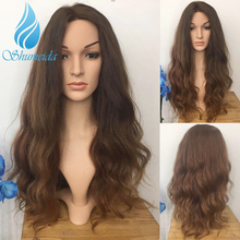 SHD Ombre Brown Color Lace Front Wigs Pre Plucked Natural Hairline Peruvian Remy Human Hair Body Wave Wigs 360 Lace Frontal Wig top beauty brown color skin top lace front wig so real and natural take action