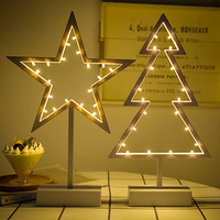 TUDA Free Shipping Creative Star Shaped Heart Shaped Christmas Tree Shaped Night Light Girl BedRoom Decoration Lamp