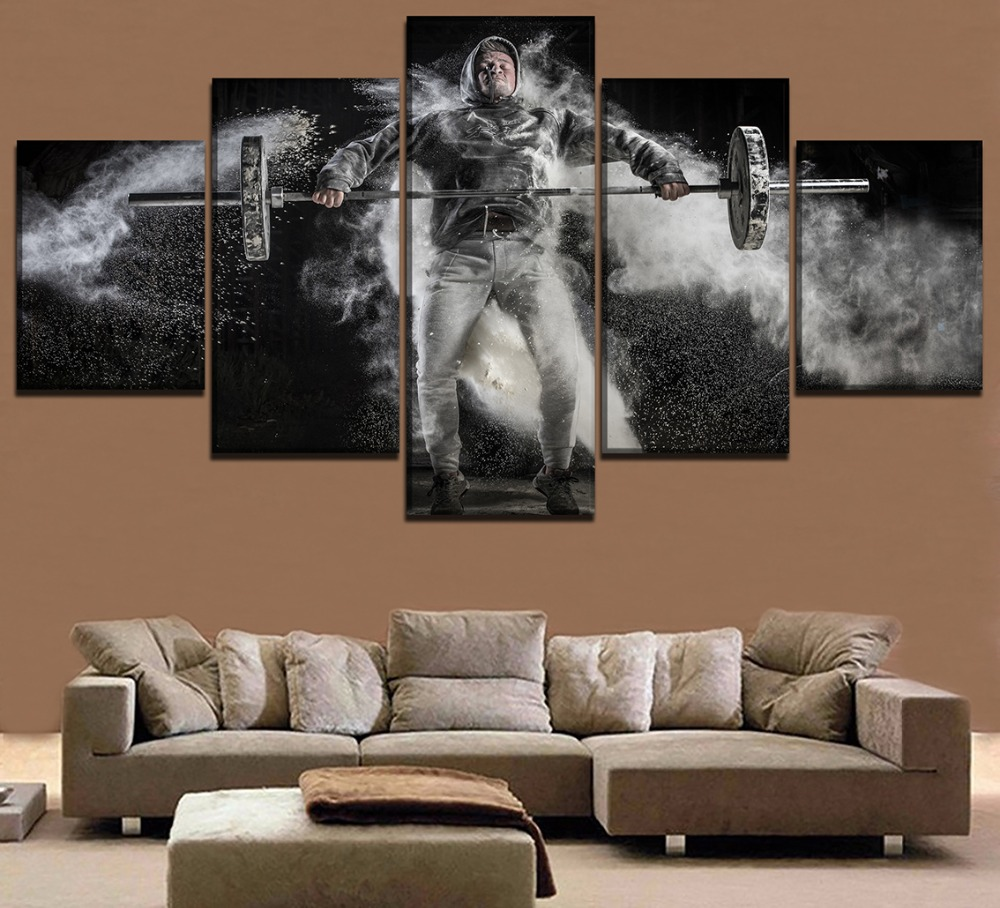 Chambotrade canvas wall art hd printed pictures 5 piece - Mens bedroom wall art ...