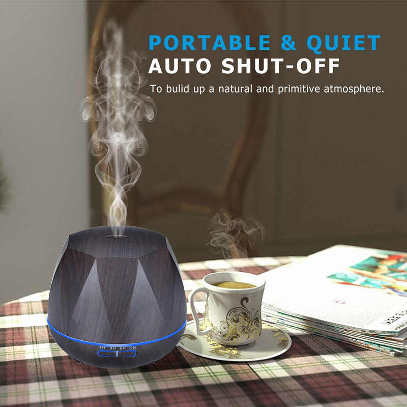 Nouvelle vente chaude ménage télécommande diffuseur d'arôme 550 ML humidificateur d'air aromathérapie diffuseur d'huile essentielle avec lumière de couleur