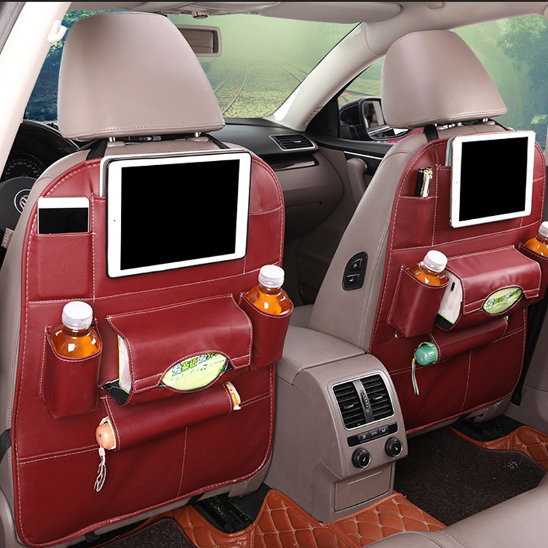 Organisateur de siège de voiture multifonctionnel universel meilleur sac de rangement de voiture en cuir pratique Durable organisateur de siège arrière accessoires de voiture