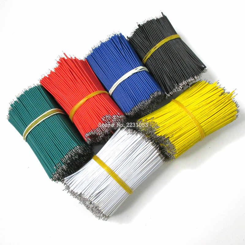 100 PÇS/LOTE Tin-Plated Breadboard PCB Solda Cabo 24AWG 8 cm Fly Jumper Cable Fios Condutores de Estanho 1007-24AWG conector do Fio