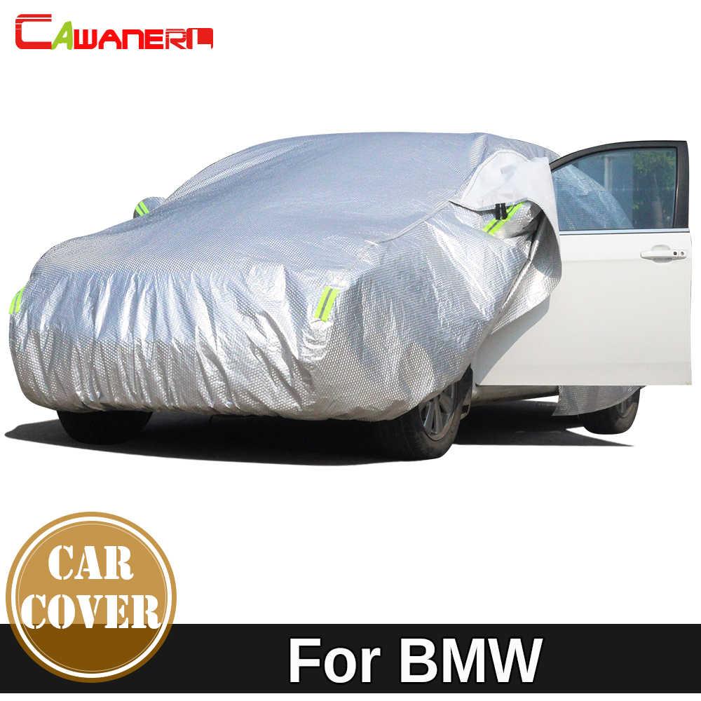 Cawanerl kalınlaşmak araba kılıfı su geçirmez güneş yağmur kar dayanıklı kapak BMW 7 serisi için E23 E32 E38 E65 E66 F01 F02 f03 F04 G11 G12