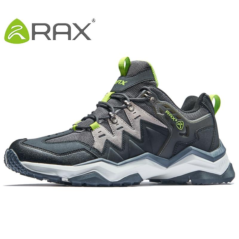 RAX Mens Waterproof Hiking Shoes Men Outdoor Trekking Walking Shoes Outdoor Sports Sneakers Men Large Size Hiking Boots Men